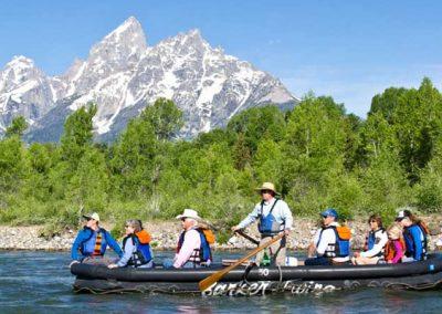 Scenic Float trip in Grand Teton National Park