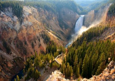Waterfall in Yellowstone National Park